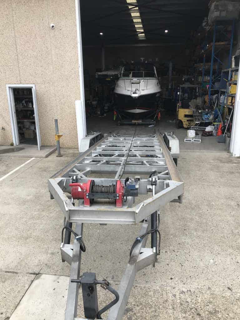 How does the Slip Away mobile boat cradle hire system work? Step 4