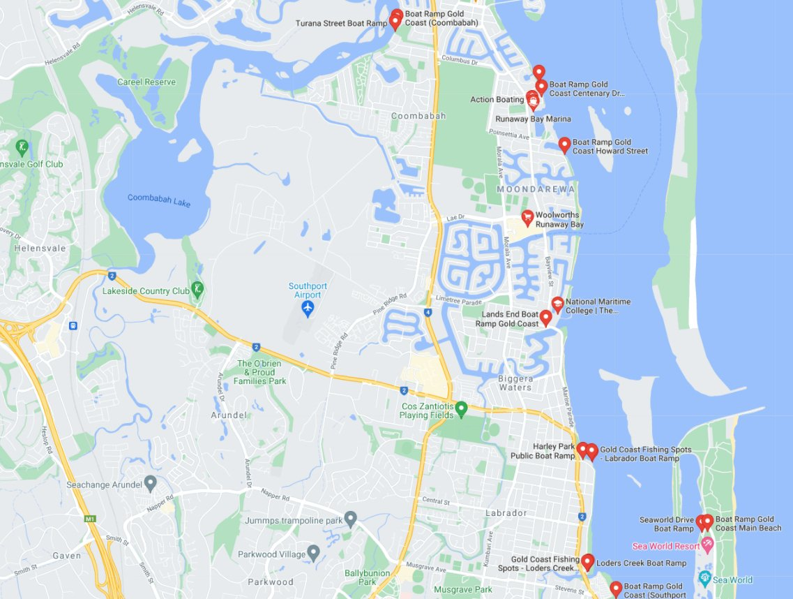 Boat transport to Runaway Bay Gold Coast Queensland locations