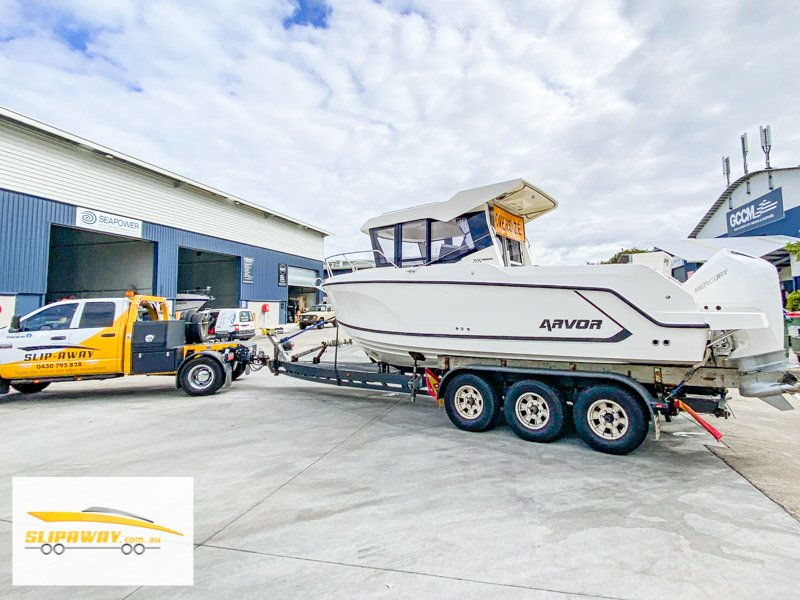 SLIP AWAY BOAT HAULAGE SERVICE MOVING FISHING BOATS BY ROAD