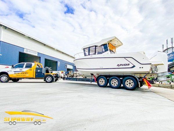 SLIP AWAY NEWCASTLE BOAT TRANSPORT FOR FOR ARVOR 705 FISHING BOATS 25 FOOT OR LARGER