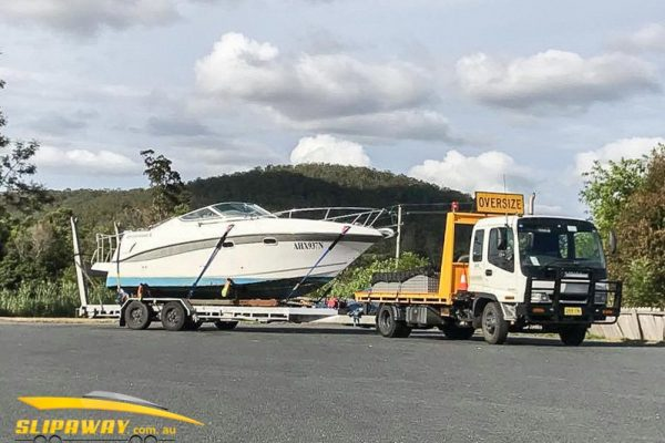 SLIP AWAY YACHT TRANSPORT 20 TO 60 FOOT BY ROAD SYDNEY MELBOURNE GOLD COAST