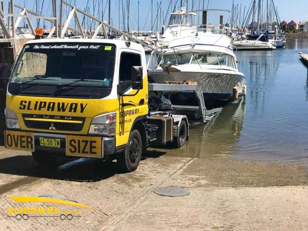 SLIP AWAY YACHT TRANSPORT 20 TO 60 FOOT FROM A MARINA BOAT RAMP